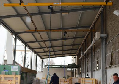 Overhead suspended lifting systems